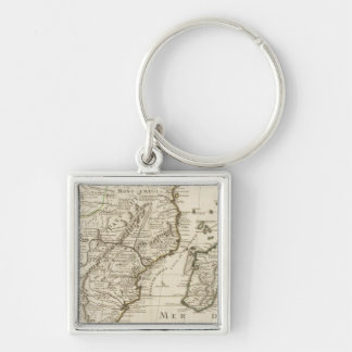 Congo, Africa Silver-Colored Square Key Ring