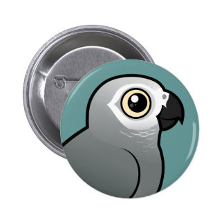 Congo African Grey 6 Cm Round Badge