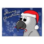 Congo African Grey Christmas Card