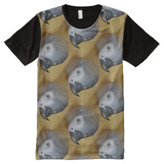 Congo African Grey Parrot Hello All-Over Print T-Shirt