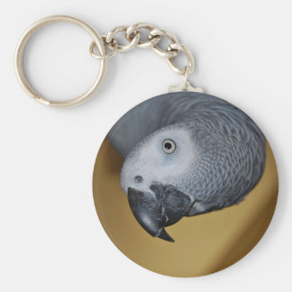 Congo African Grey Parrot Hello Key Ring
