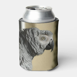 Congo African Grey Parrot with Ruffled Feathers Can Cooler