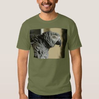 Congo African Grey Parrot with Ruffled Feathers T Shirt