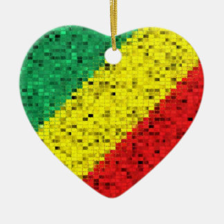 Congo Brazzaville Flag glitter ornament