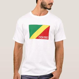 Congo Brazzaville flag souvenir tshirt