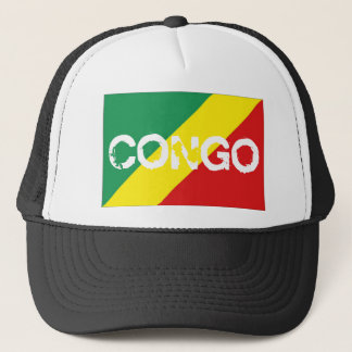 Congo brazzaville flag trucker mesh souvenir hat