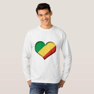 Congo (Brazzaville) Heart Flag T-Shirt