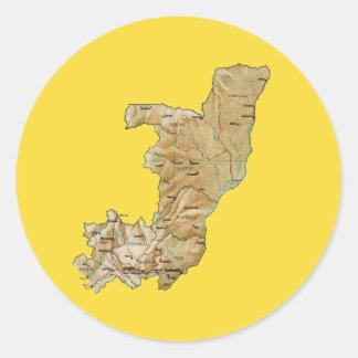 Congo-Brazzaville Map Sticker