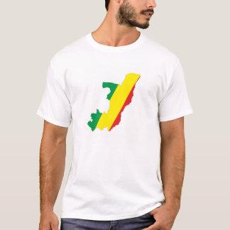 congo country flag shape map symbol T-Shirt