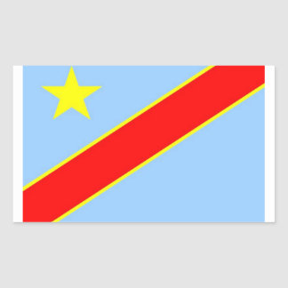 Congo Democratic Flag Rectangular Sticker