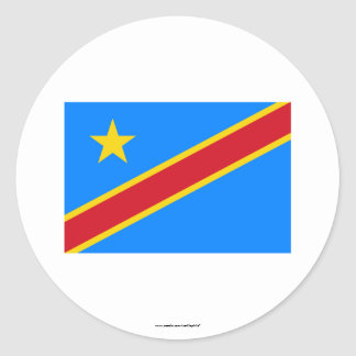 Congo Democratic Republic Flag Classic Round Sticker