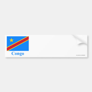 Congo Democratic Republic Flag with Name Bumper Sticker