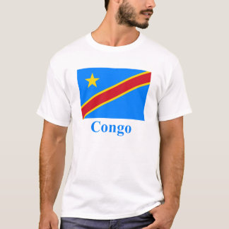 Congo Democratic Republic Flag with Name T-Shirt