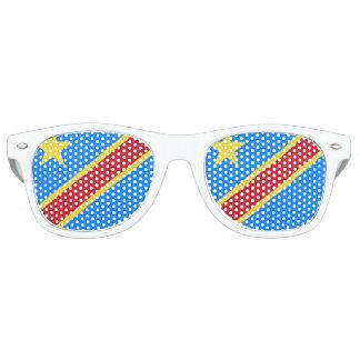 Congo - Democratic Republic of the Congo Flag Retro Sunglasses