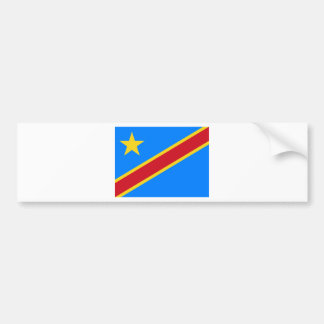 Congo flag CD Bumper Sticker