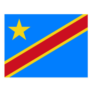 Congo flag CD Postcard