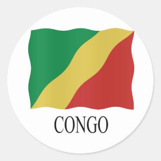 Congo Flag Classic Round Sticker