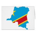Congo Flag map  CD Cards