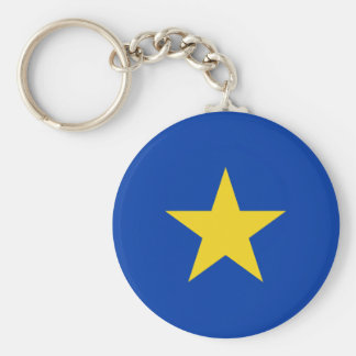 Congo Free State, Democratic Republic of the Congo Basic Round Button Key Ring