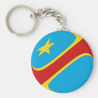 Congo-Kinshasa Fisheye Flag Keychain