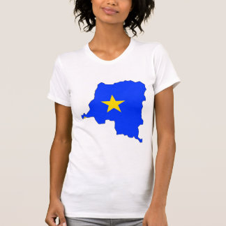 Congo Kinshasa Flag Map full size Shirt