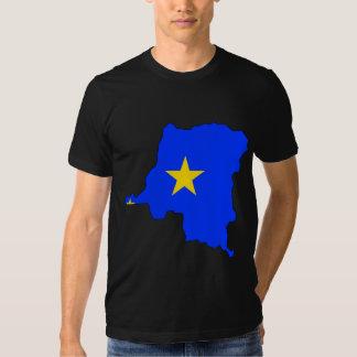 Congo Kinshasa Flag Map full size Shirts
