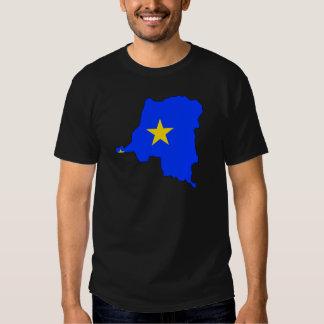 Congo Kinshasa Flag Map full size T-shirt