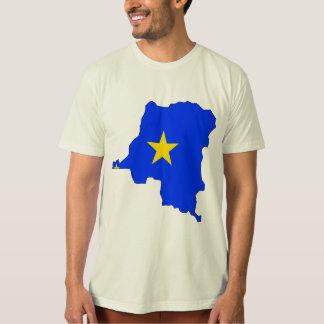 Congo Kinshasa Flag Map full size T-shirts