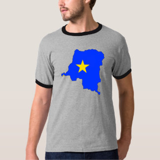 Congo Kinshasa Flag Map full size Tshirt