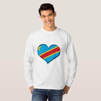 Congo (Kinshasa) Heart Flag T-Shirt