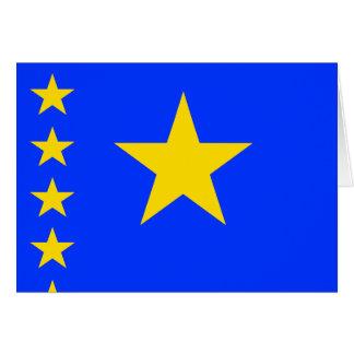 Congo Kinshasa High quality Flag Greeting Card