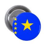 Congo Kinshasa High quality Flag Pinback Button