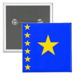Congo Kinshasa High quality Flag Pinback Buttons