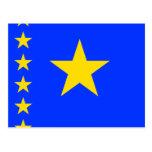 Congo Kinshasa High quality Flag Postcard