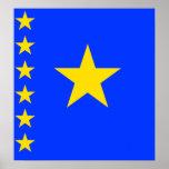 Congo Kinshasa High quality Flag Poster
