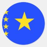 Congo Kinshasa High quality Flag Round Sticker