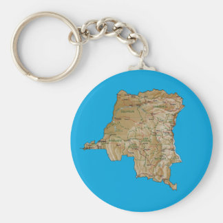 Congo-Kinshasa Map Keychain