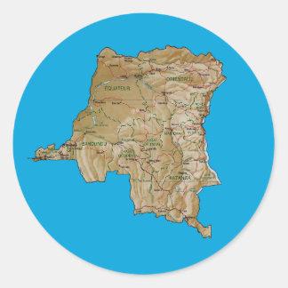 Congo-Kinshasa Map Sticker