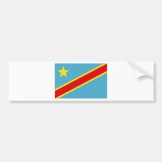 Congo Kinshasa National Flag Bumper Sticker