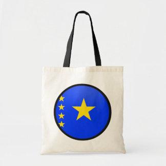 Congo Kinshasa quality Flag Circle Canvas Bags