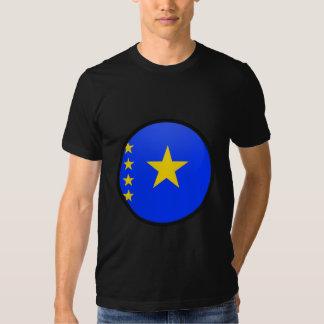 Congo Kinshasa quality Flag Circle Tee Shirts