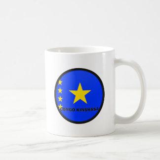 Congo Kinshasa Roundel quality Flag Basic White Mug