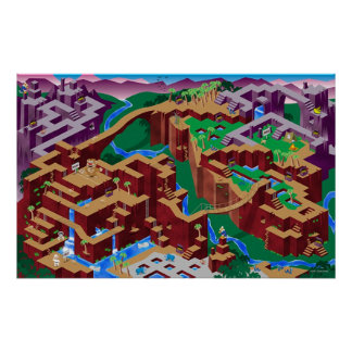 Congo Maze Print
