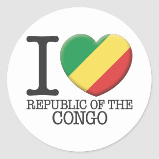 Congo, Republic of the Classic Round Sticker