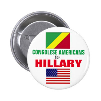 Congolese Americans for Hillary 2016 6 Cm Round Badge