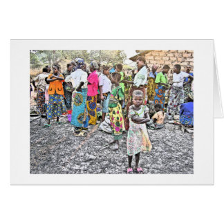 Congolese Girl With Pink Shoes (Photography) Greeting Card