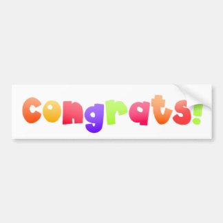 Congrats 2 - sticker bumper sticker