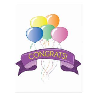 Congrats Balloons Postcard