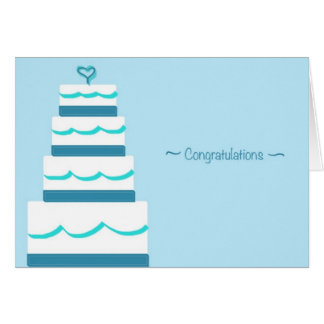 Congrats & Best Wishes Wedding Greeting Card