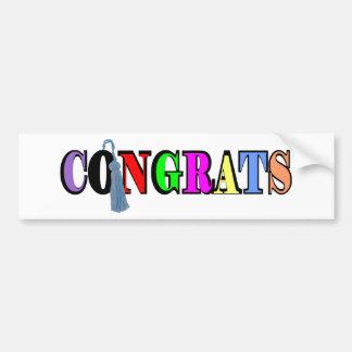 Congrats Bumper Sticker